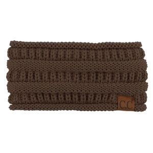 Solid cable knit C.C headwrap in Brown